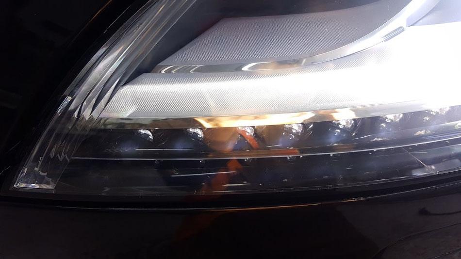 TTRS 8j ヘッドライトのひび・曇り除去 所沢 三芳