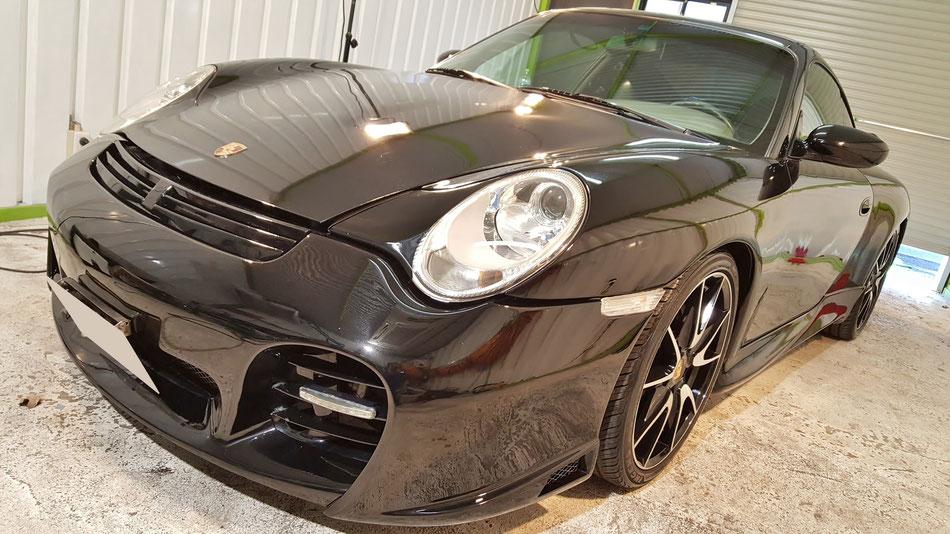 996のヘッドライト磨き・ボディコーティング完成