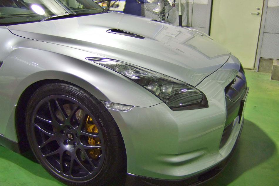 ボディコーティング施工でR35GT‐Rの塗装をより美しく