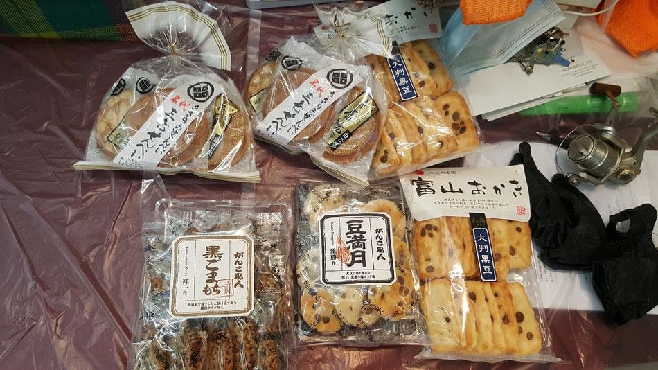 煎餅・おかきのお土産、ご馳走様でした。