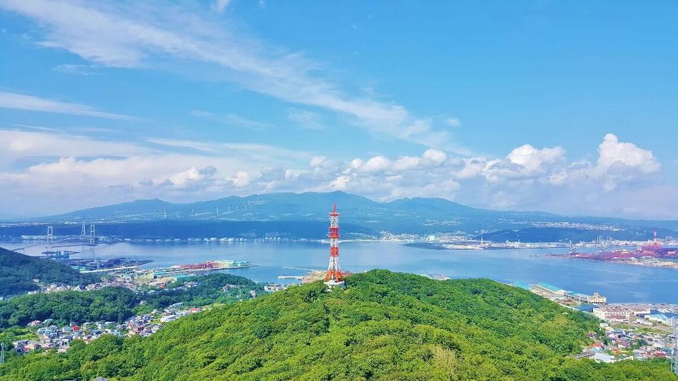 測量山展望台からの景色