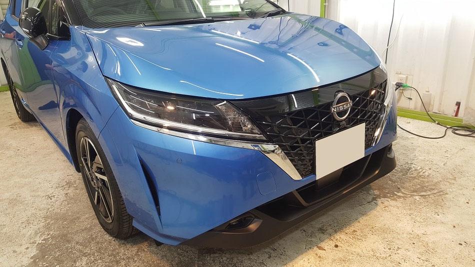 リーフ新車 ナノガラスコーティング完成 埼玉の車磨き専門店