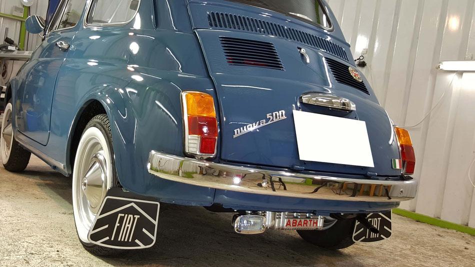 ルパンの愛車 フィアット・チンクエチェントのコーティング施工