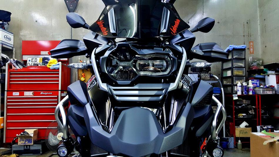 R1200GSトリプルブラックのコーティング後 バイクコーティング 埼玉