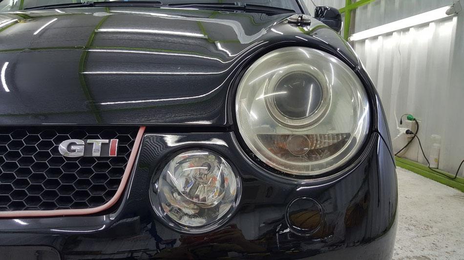ルポGTIカップカー ヘッドライトの黄ばみ