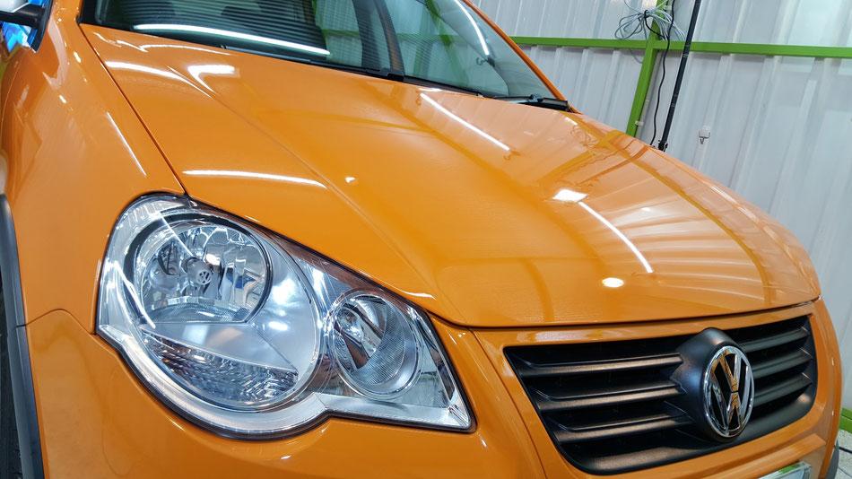 クロスポロの磨き・コーティング完成 ウォータースポット・雨染み・水垢除去 埼玉の車磨き専門店