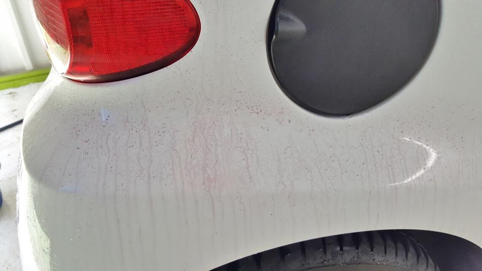 スマート451 ボディの鉄粉 塗装がザラザラ