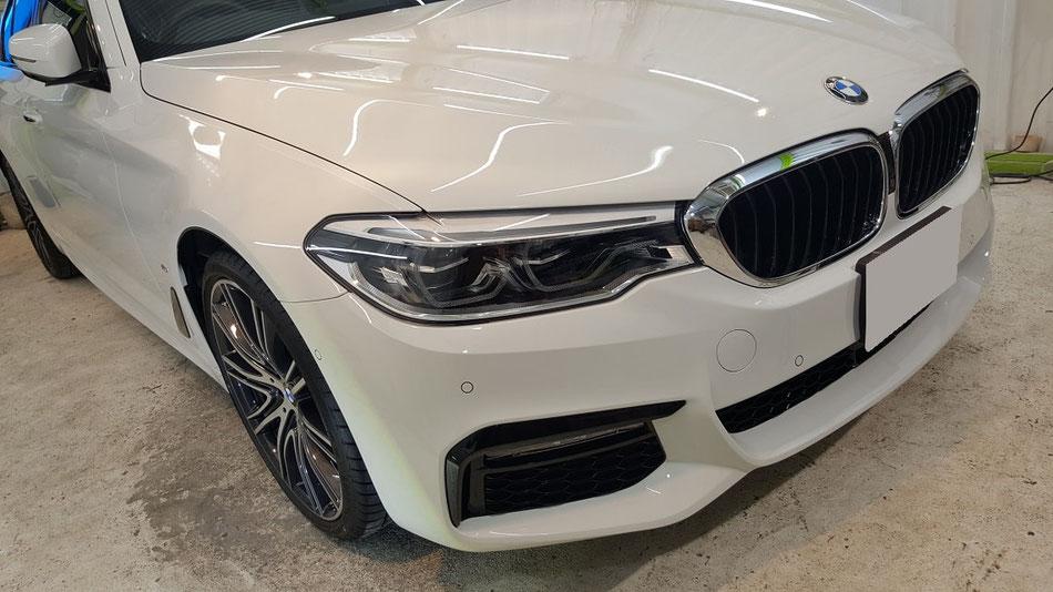 BMW530eの磨き・セラミックコーティング 埼玉の車磨き専門店・アートディテール
