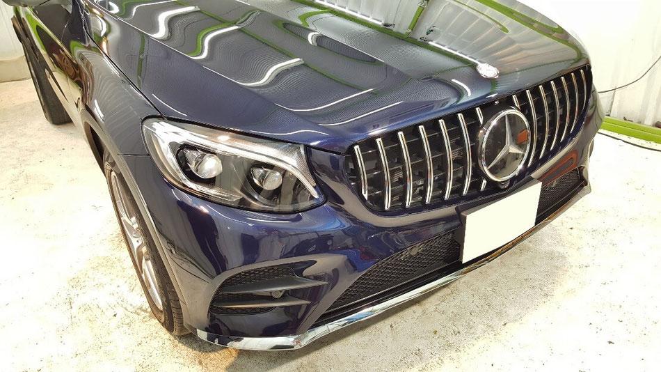 カバンサイトブルーのGLCの磨き 埼玉の車磨き専門店・アートディテール ドイツ車の塗装研磨・コーティング