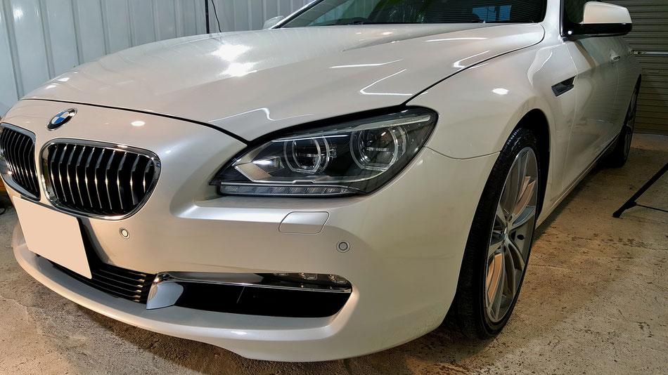 BMW640のガラスコーティング 傷消し 三芳 所沢 埼玉の車磨き専門店 川越 越谷