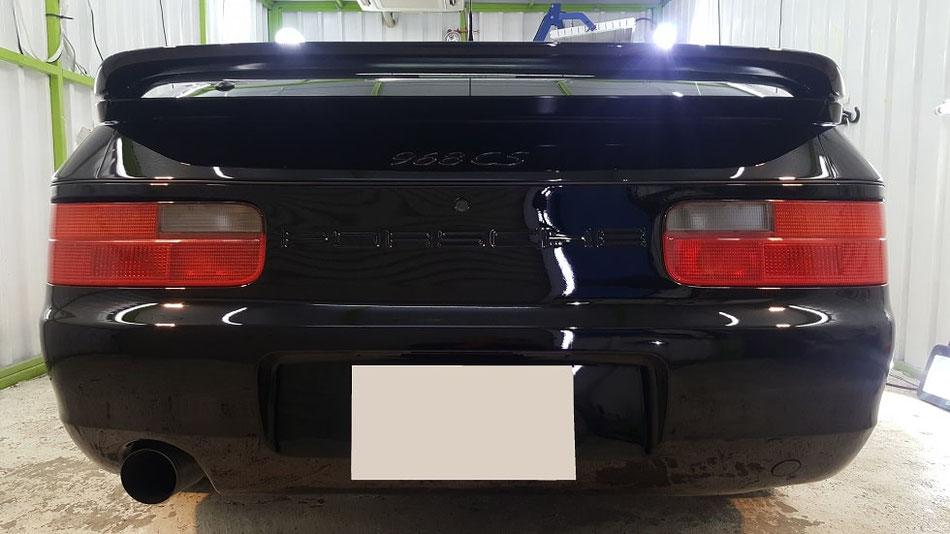 968cs 塗装の研磨 黒 濃色車 埼玉