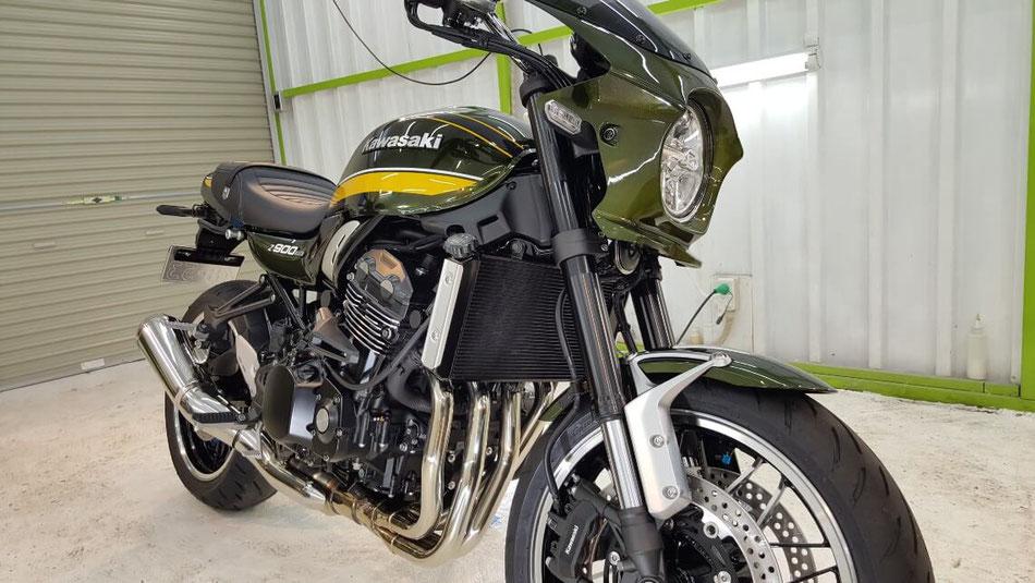 Z900RSのセラミックコーティング後の艶 埼玉のバイク磨き専門店・アートディテール