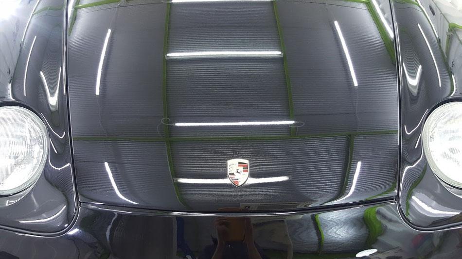 968cs ボンネットの花粉シミ除去 埼玉の車磨き専門店 アートディテール