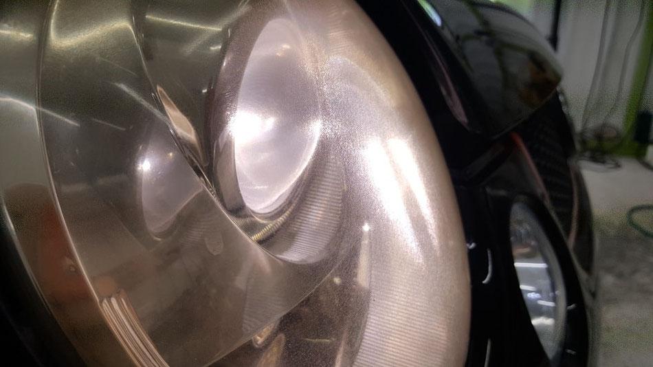ルポGTIカップカー ヘッドライトのひび・黄ばみ・クラック・曇り