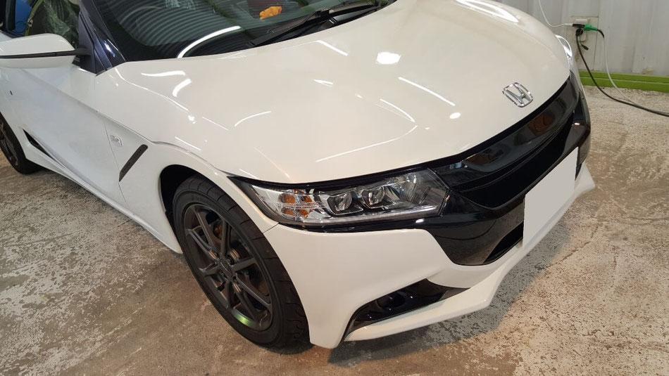 S660の磨き セラミックコーティング・幌コーティング完成 埼玉の車磨き専門店