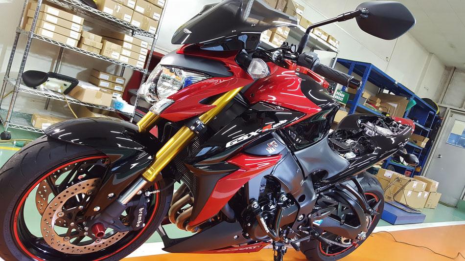 S1000の磨き・コーティング完成 埼玉所沢のバイク磨き専門店