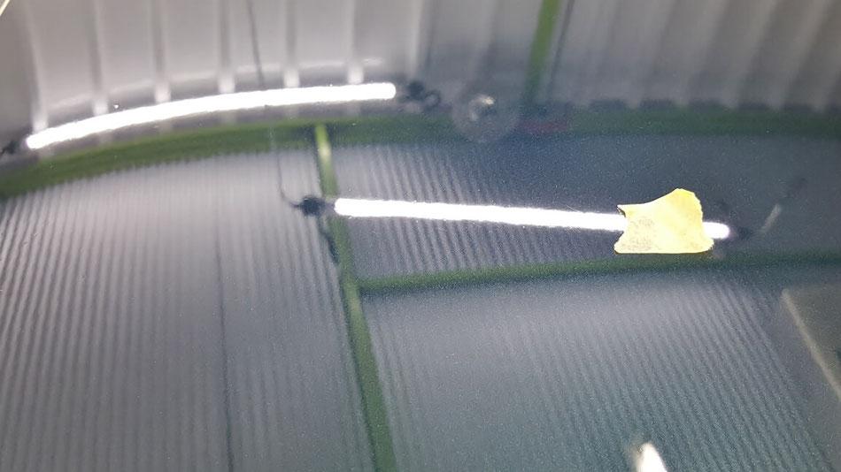 ステップワゴンスパーダの酸性クレーター除去 塗装の雨染み改善 濃色車の磨き