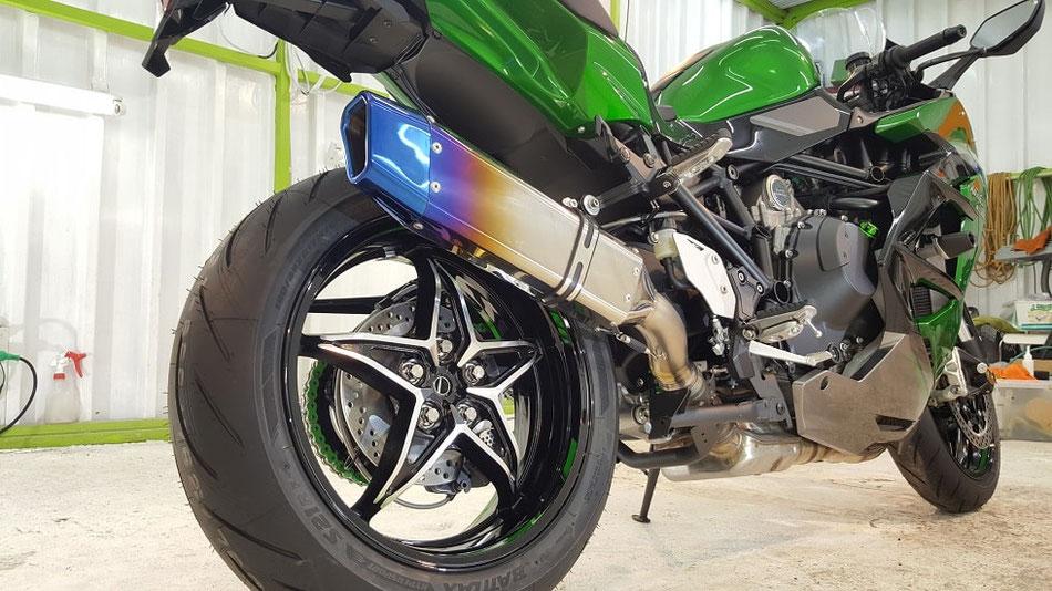 ニンジャH2SXのバイクコーティング 埼玉のバイク磨き専門店