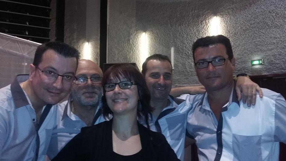 Cédric, Philippe,Cyril, Sylvain et Charlotte
