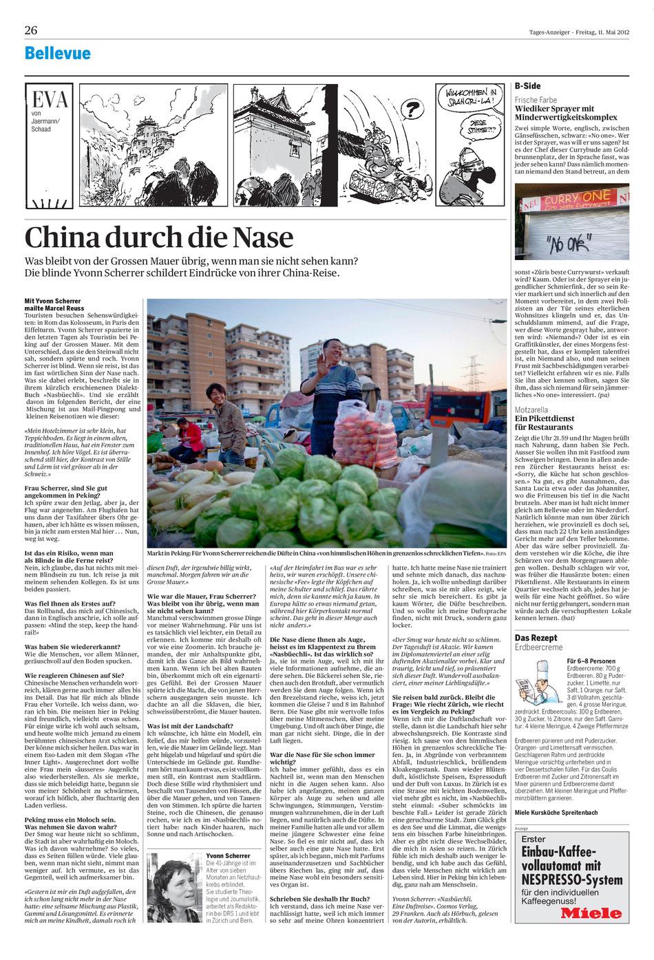 Artikel vom 11. Mai 2012 im Tagesanzeiger