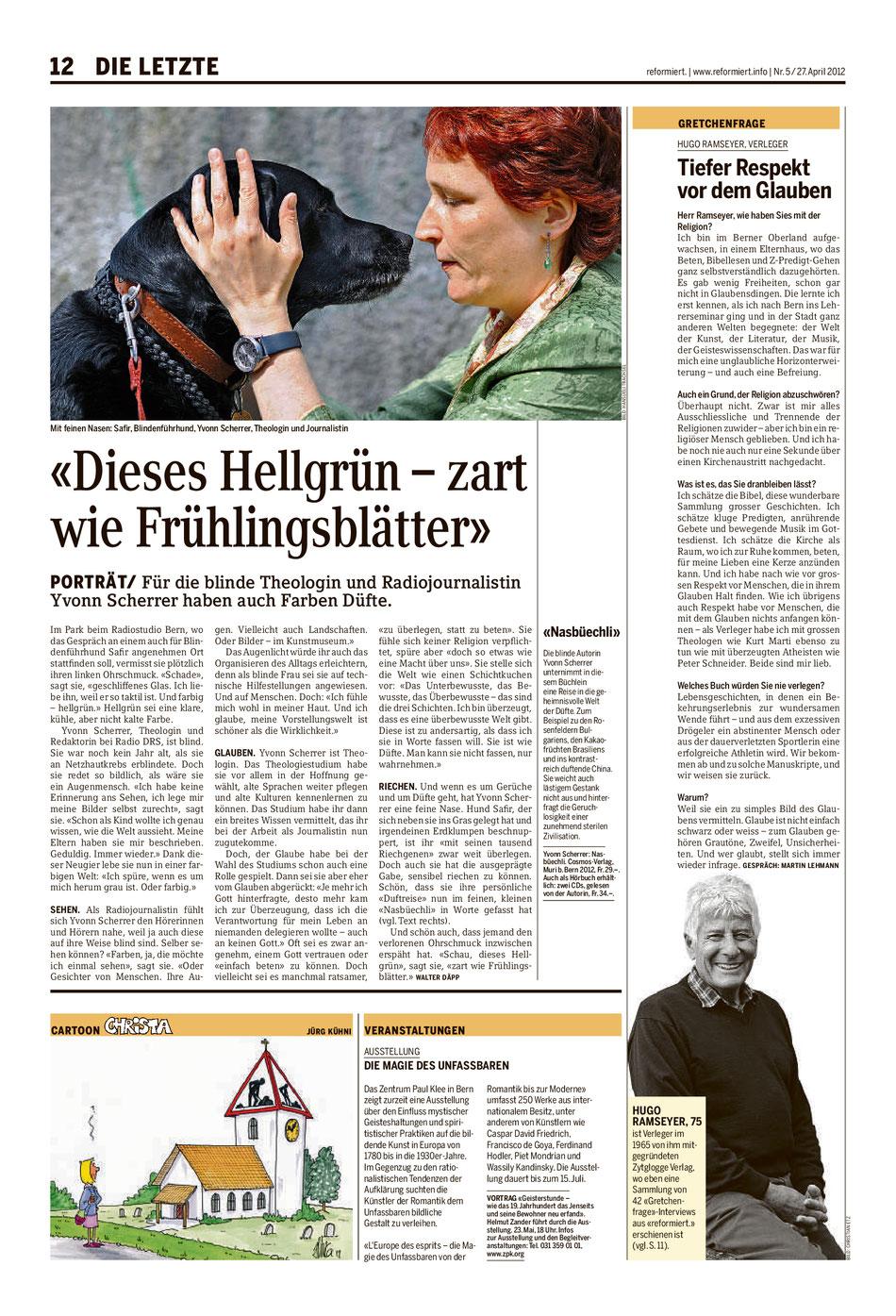 "Artikel in ""reformiert"" am 27. April 2012"