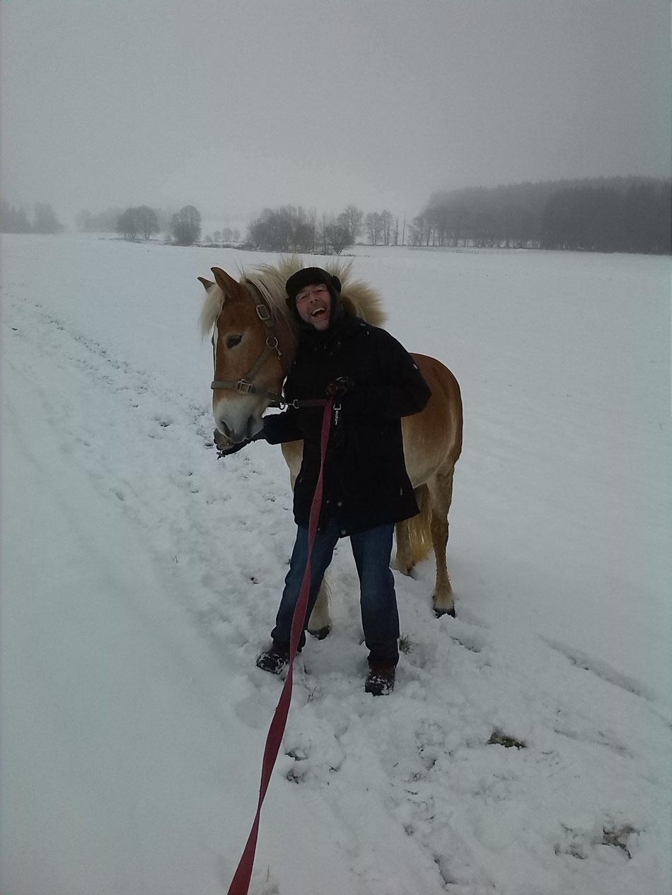 Neujahrsgassi mit den Liebsten - und mit Schnee
