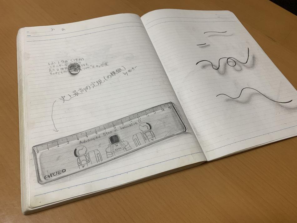 中学生の頃描いたトリックアート