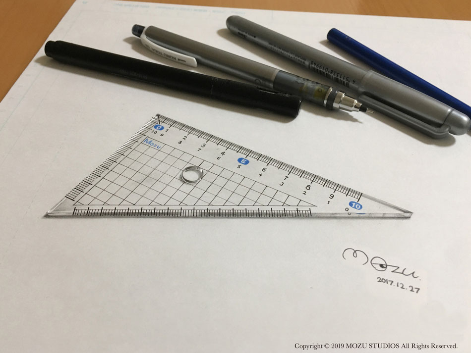 バズったトリックアート「三角定規」