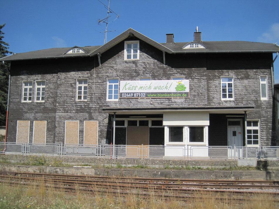 Empfangsgebäude Blankenheim (Wald) im Sommer 2015