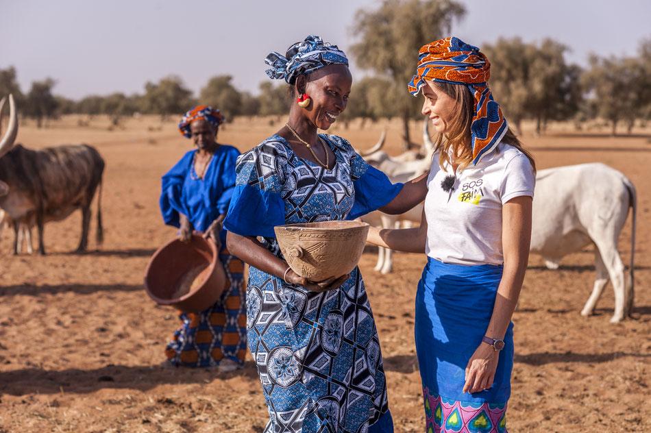 Joëlle Scoriels, ambassadrice pour SOS faim en visite au Sénégal