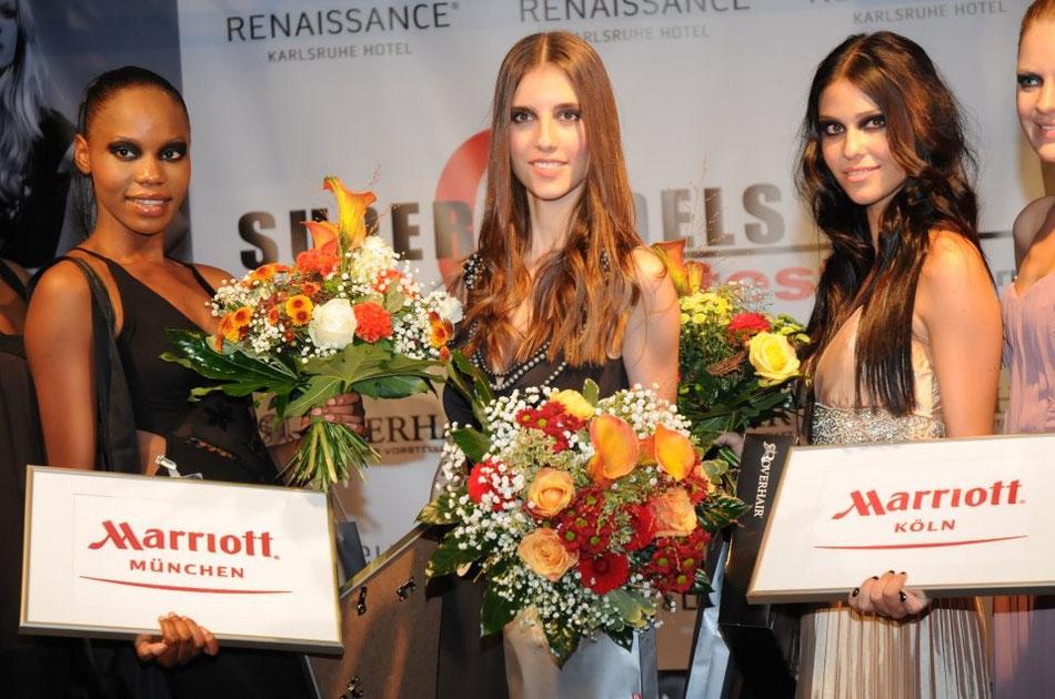 24.09.11 im Renaissance Hotel KA Platz: Maike Kleiber, 2. Platz Melissa Kunz; 3. Platz Jessica Obiango