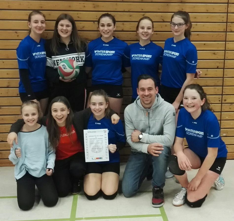 Das erfolgreiche Volleyballteam