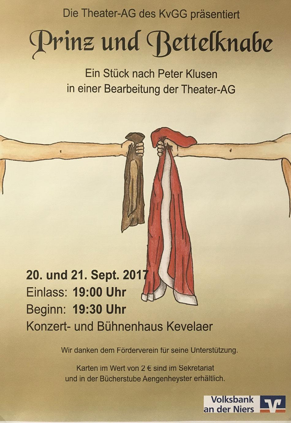 """Plakat zu """"Prinz und Bettelknabe"""""""