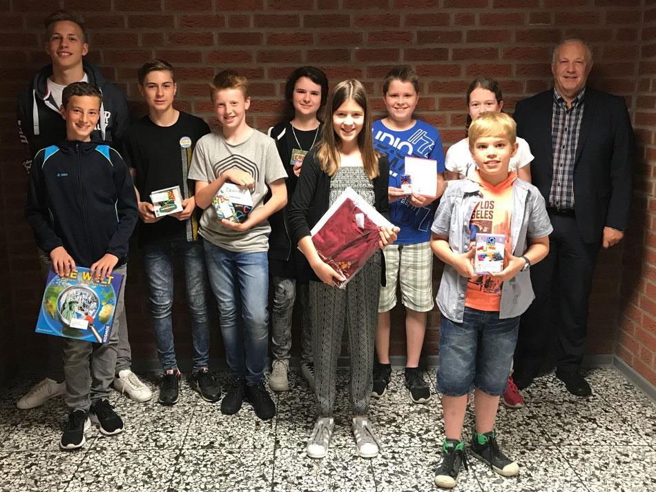 Die Gewinner von Sonderpreisen beim Känguru-Wettbewerb der Mathematik 2017