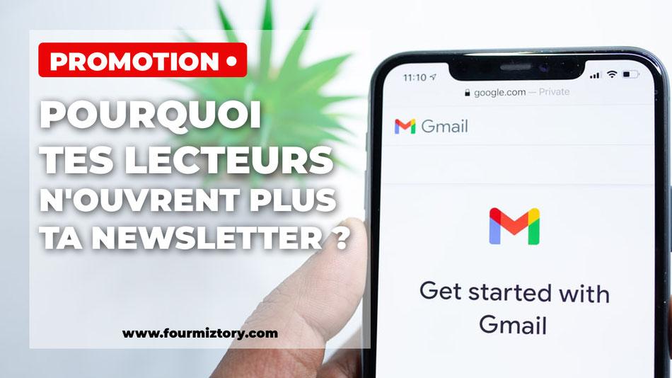 liste email, taux d'ouverture, baisse de l'ouverture email, newsletter, infolettre, spam, livre blanc, cadeau d'inscripton, rgpd