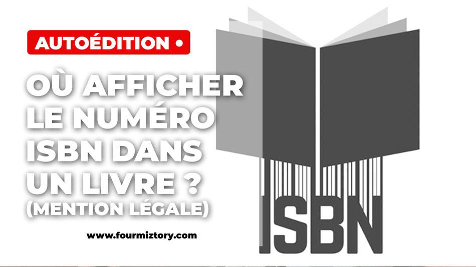 Mention légal isbn livre