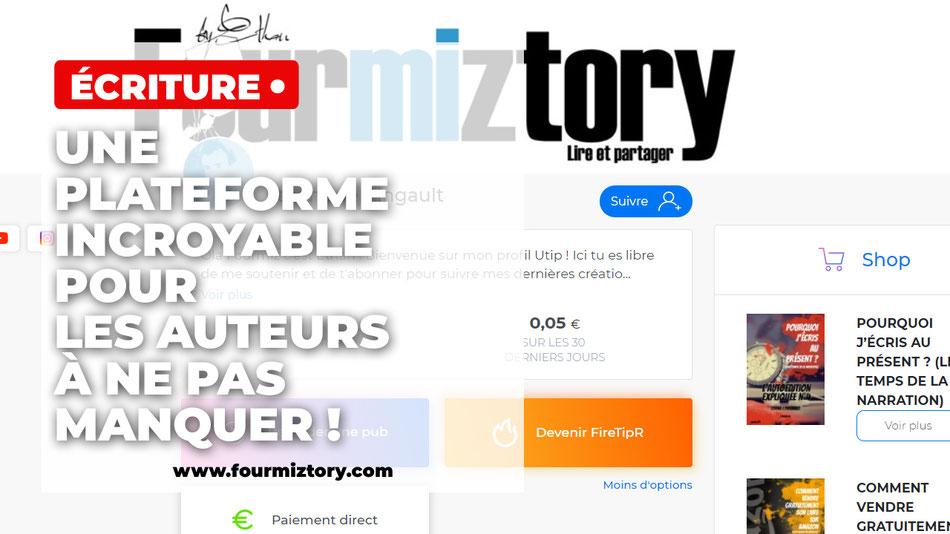 Utip permet de créer une boutique en ligne pour les auteurs