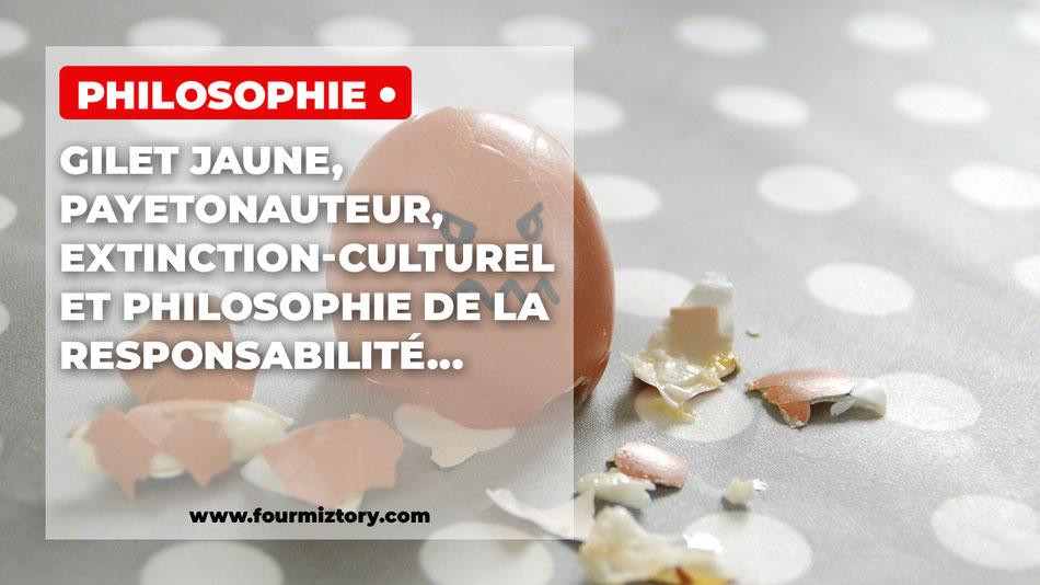 Gilet Jaune, Payetonauteur, Extinction-Culturel et Philosophie de la Responsabilité...