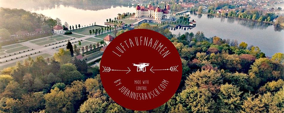 Drohne über Dresden Moritzburg Schloss Sachsen Luftaufnahmen