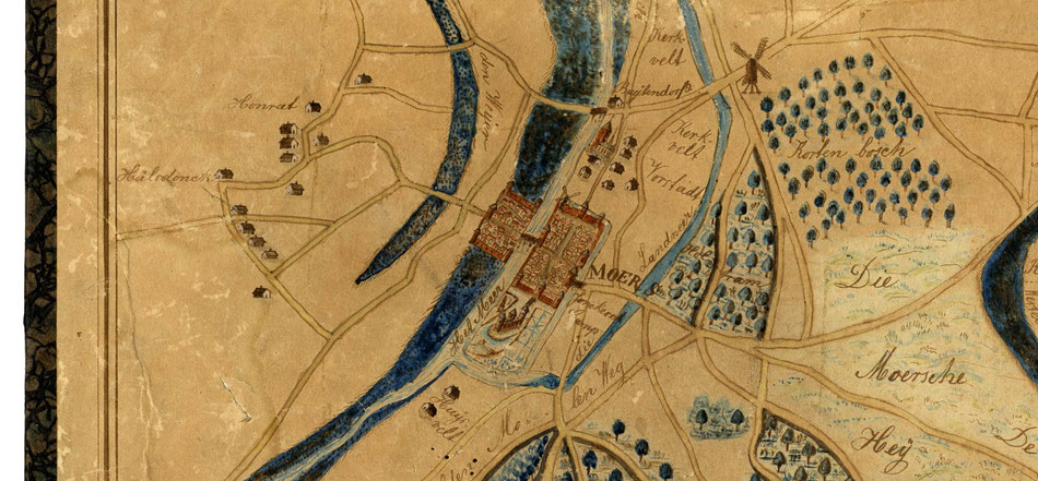Ausschnitt aus der Karte A. von Heurdt: Situation: ca. 1580.  © Kreisarchiv Viersen, AZ: Grams