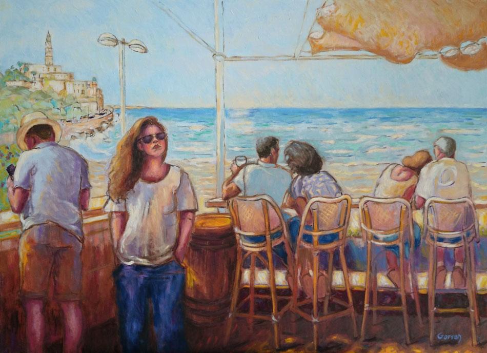Tel Aviv - Jaffa  - Huile sur toile  - 100 x 73 cm