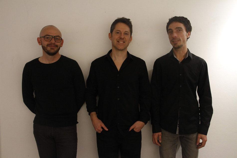 De gauche à droite: Nicolas Favrel, Nicolas Fabre, Bertrand Beruard