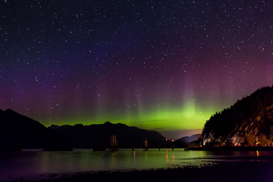 Noorderlicht - Howe Sound Vancouver, British Columbia © Jurjen Veerman