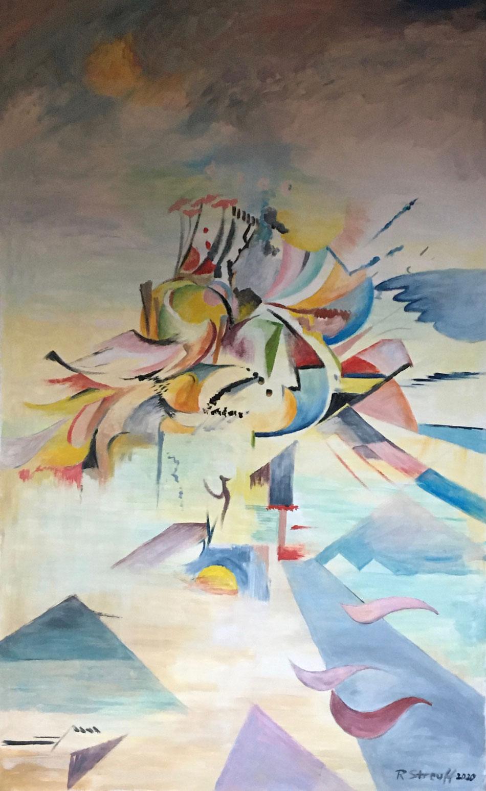 """into air"", 2020, Öl/Lw., 130 x 80 cm"