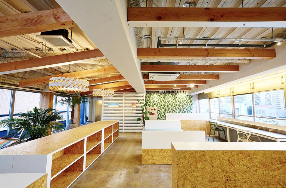 オフィス , オフィスデザイン , リノベーション  , リノベーションデザイン , 南国風デザイン , ハワイアンインテリア , 南国風デザイン , 店舗デザイン , 内装デザイン , インテリデザイン