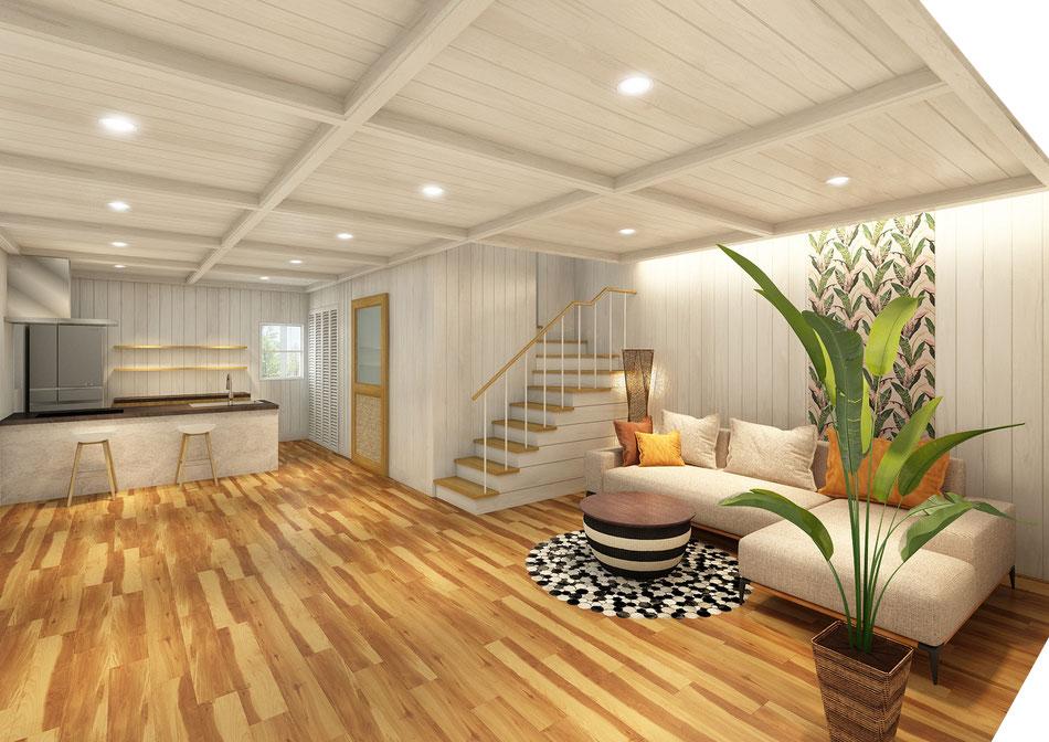 戸建て住宅 , 住宅 , 新築住宅 , 南国風インテリア , 西海岸 , ハワイアン , インテリアデザイン , 住宅設計 , 建築設計 , 建築デザイン