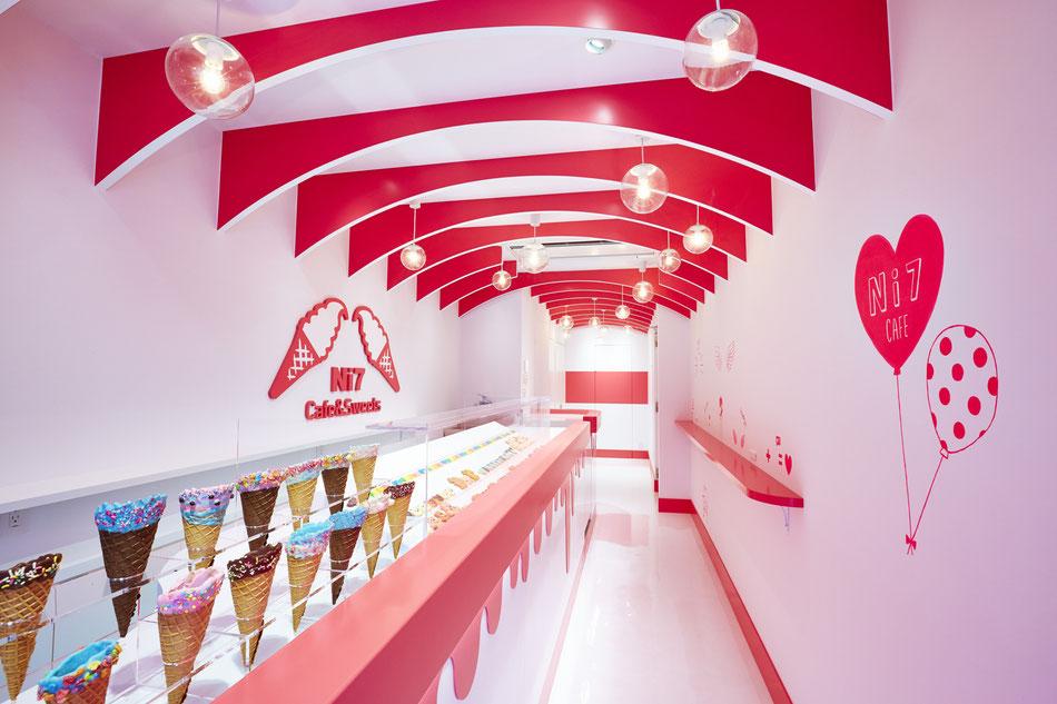 スイーツショップ , 店舗デザイン , インテリアデザイン , 内装デザイン , 内装設計 , 施工 , 工事