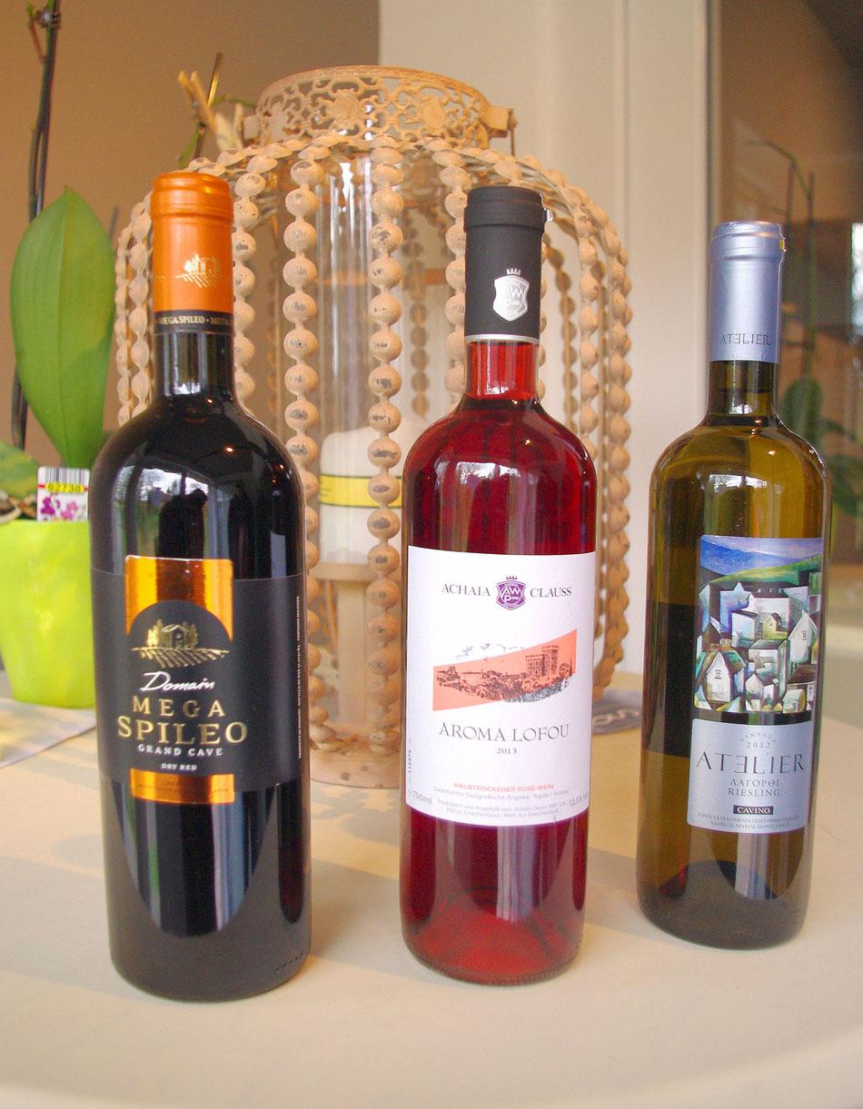 Rot-Rose-Weiß-Wein bei Pana im Bootshaus.
