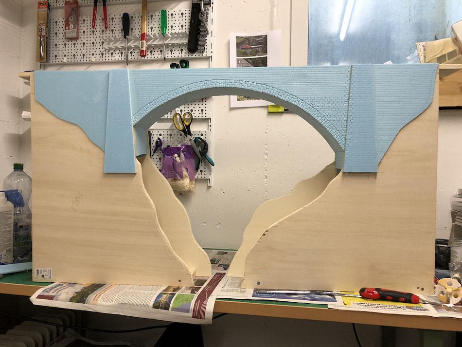 H0 Brücke selber Bauen mit Styrodur
