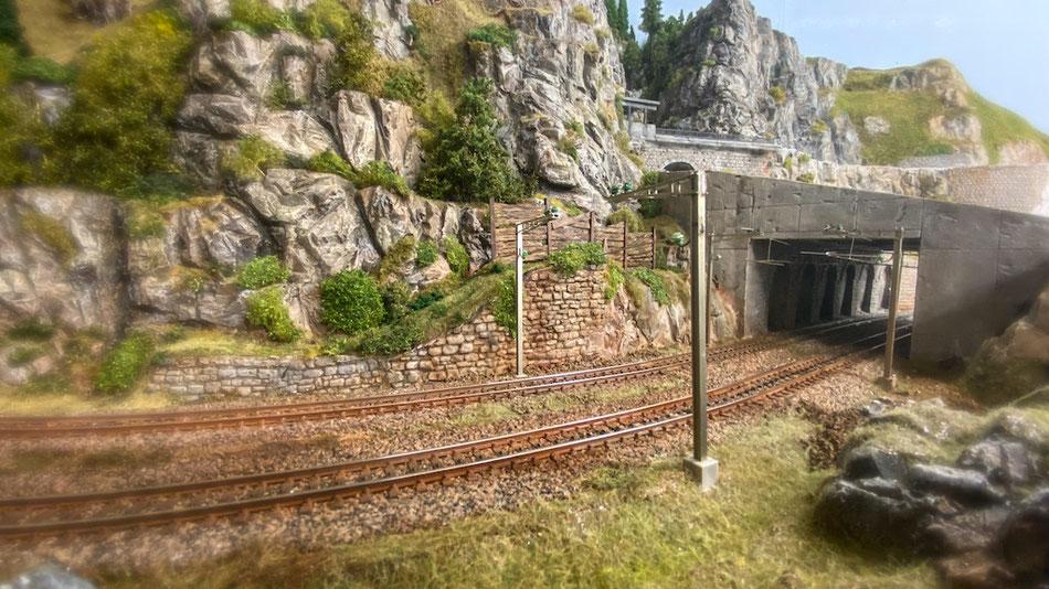 """Bau einer Lawinen-Schutzgalerie - nach Vorbild """"Paffensprung"""" / SBB-Gotthardstrecke"""
